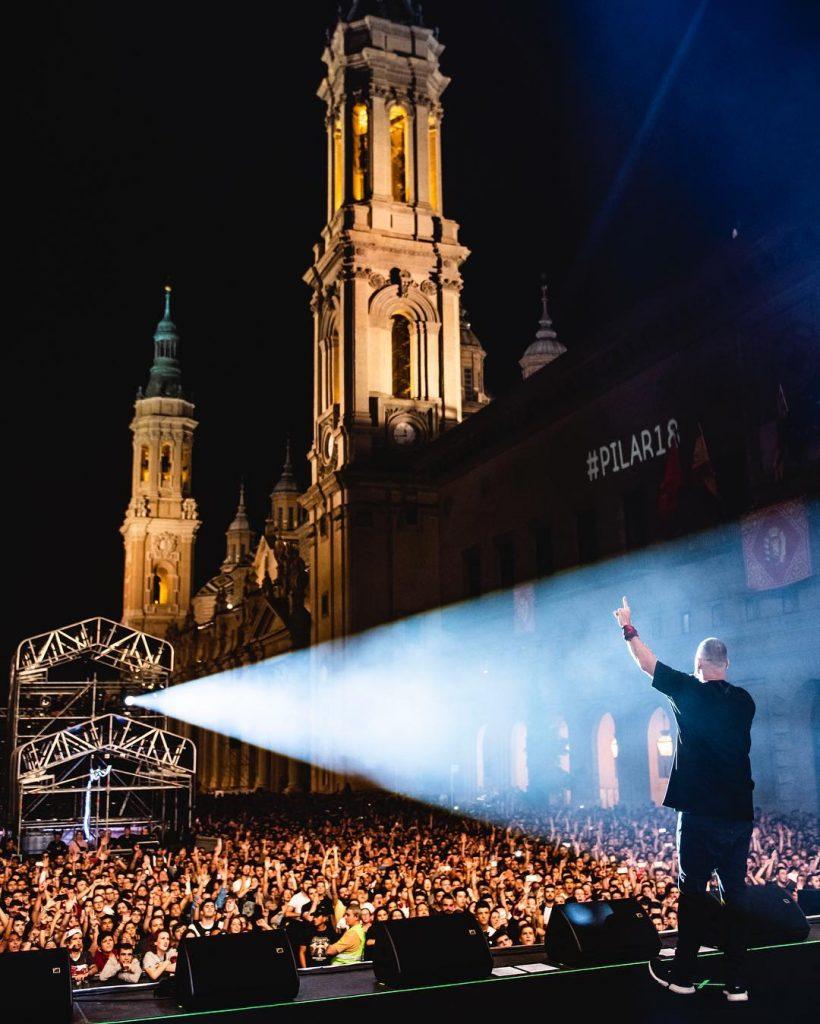 Kase O - Foto de Marcos Cebrián - Concierto en pilares en la Plaza del Pilar de Zaragoza durante las Fiestas del Pilar 2018
