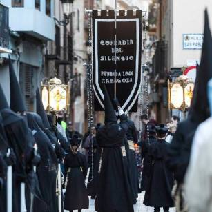 Programa de Semana Santa en Zaragoza 2019 - Cofradía de Nuestro Padre Jesús de la Agonía y de Nuestra Señora del Rosario en sus Misterios Dolorosos o del Silencio Iglesia San Pablo