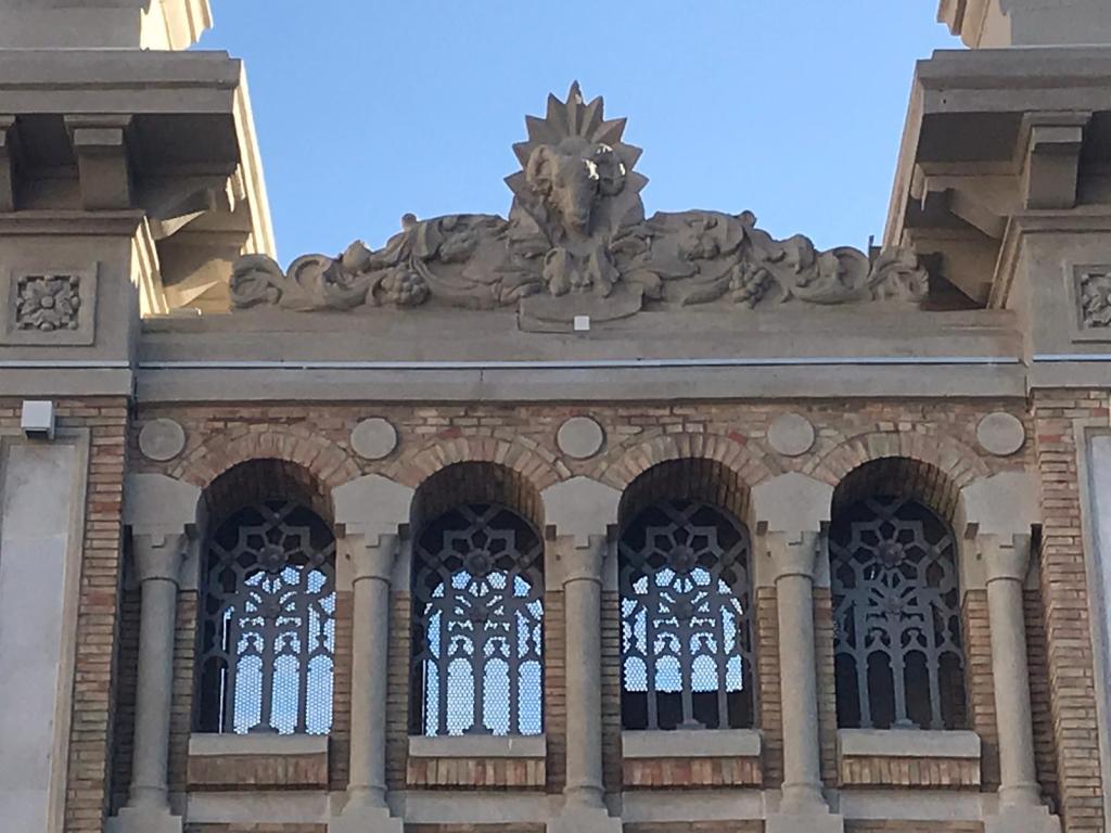 Detalles de la decoración del Mercado Central