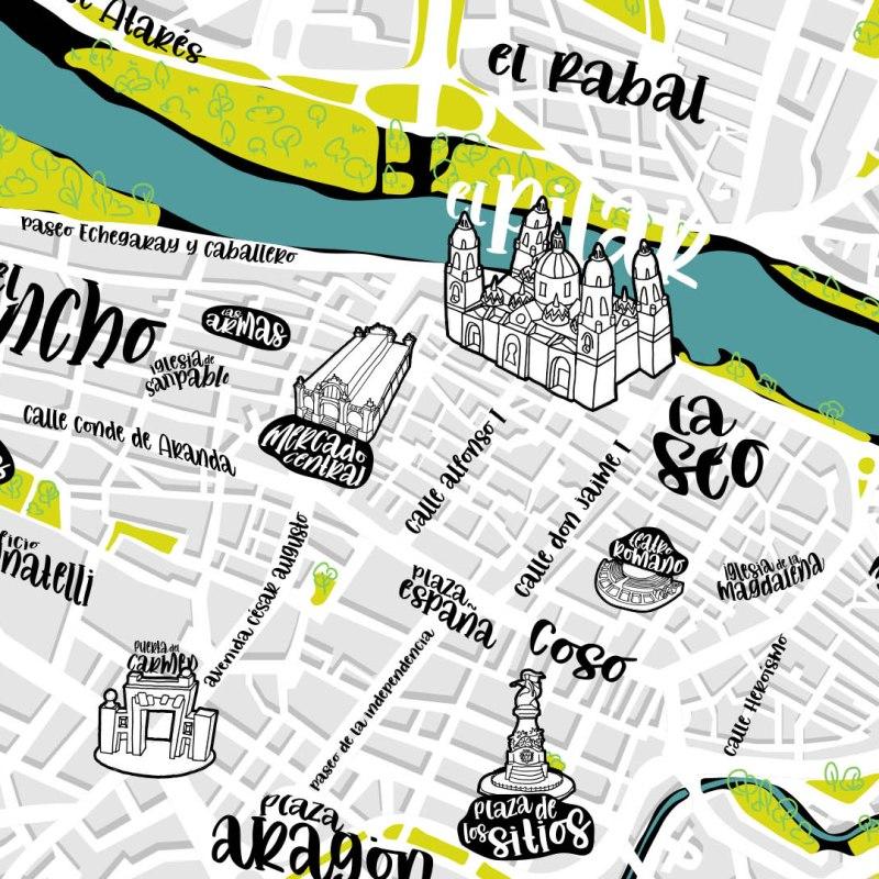Mapa Interactivo de Zaragoza Ciudad
