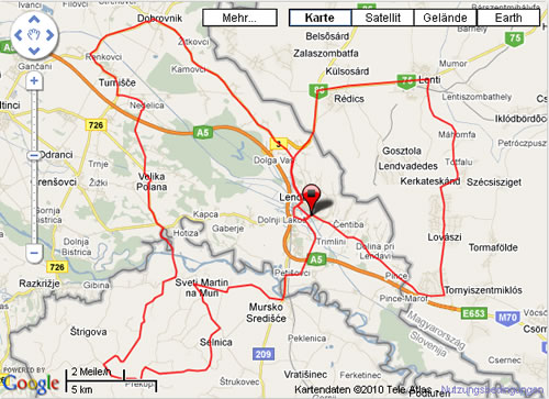 Strecke Lendava