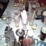 halbvoller Tisch
