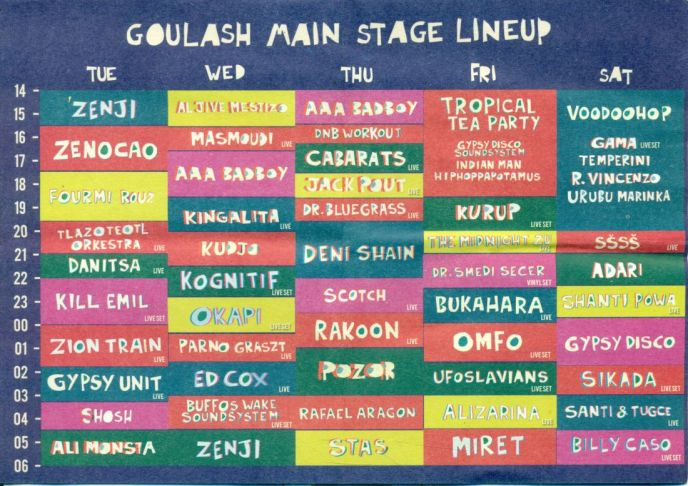 Main Stage Lineup