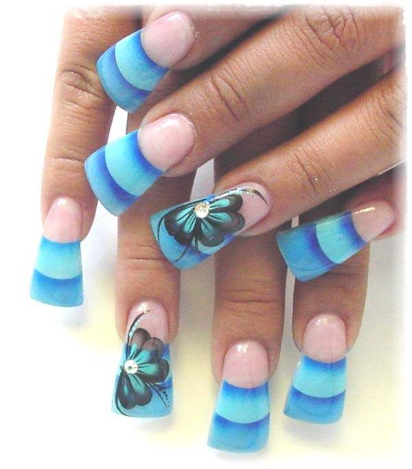 Cross Acrylic Nail Designs