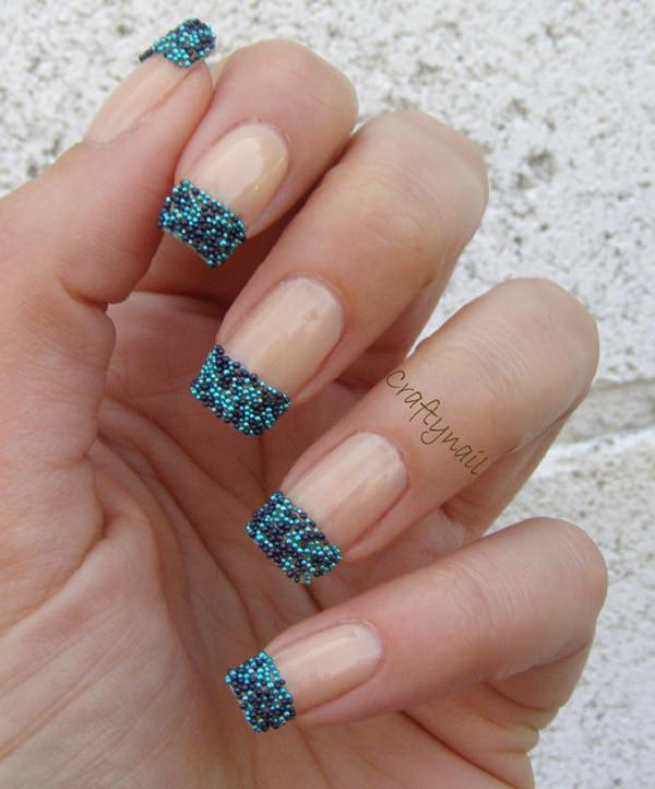 White And Nail Art Design A Bination Of French Tips Cuticle Shapes As