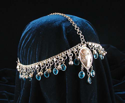 Belly Dance Head Ornament With Glass Charms Zarifa S
