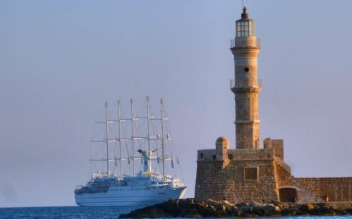 Again in Chania's largest sailboat cruise ship Club Med 2 |  Photos