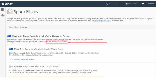 Spam Threshold Score