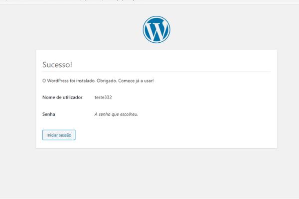 acessando o wordpress instalado no cpanel 6