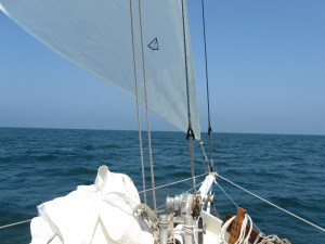 Sailboat Rigging: Toggle in use.