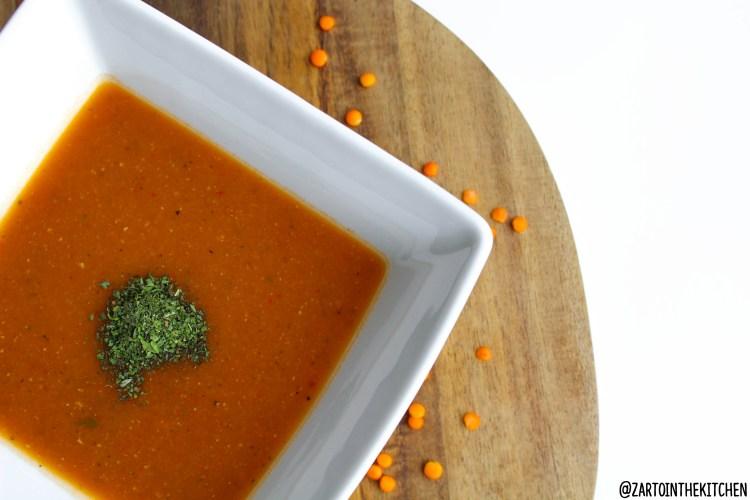 Rode linzen soep (mercimek corbasi)