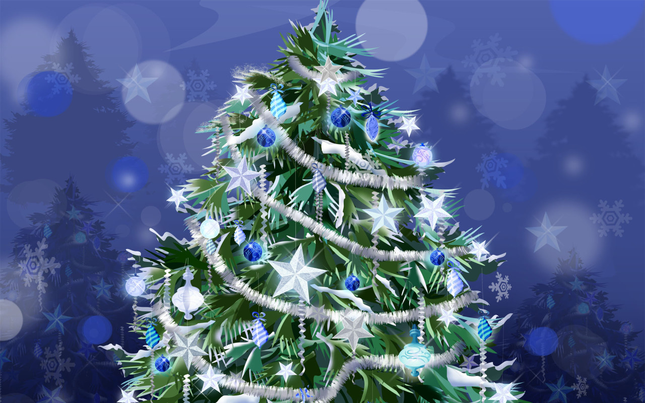Previous, Holidays - New Year wallpapers - Holiday tree / New Year wallpaper