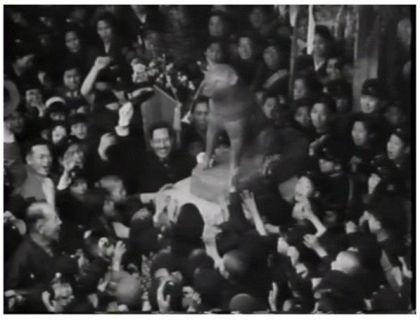 昭和9年4月21日に 渋谷駅前に 設置された 忠犬ハチ公像