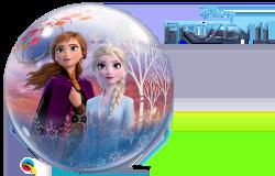 Ballon Frozen 2 Anna Elsa und Freunde 2 seitiger Druck