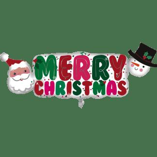 Folienballon Merry Christ mas Schriftzug