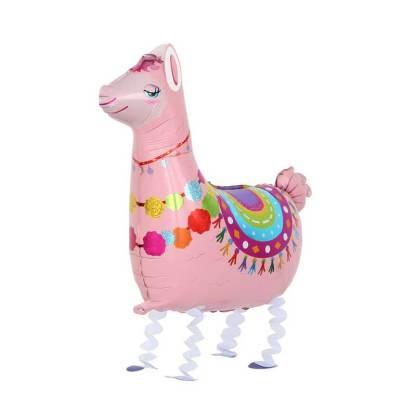 Ballonfigur Alpaka Lama Pink