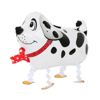 Ballonhund Ballonfigur Hund weiss