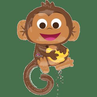 Affe aus den Dschungel mit Banane