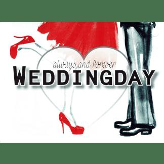 Ballonkarte always forever Weddingday