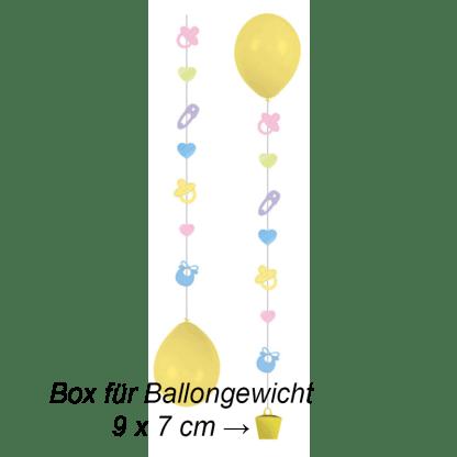 Ballon Hänger Tails Geburt 3er Pack