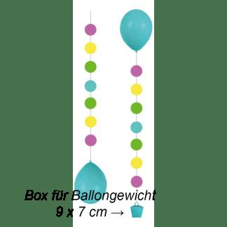 Ballon Hänger Tails Punkte 3er Pack