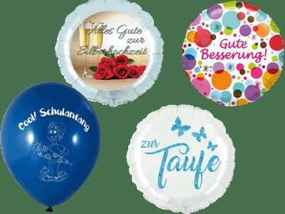 Deutsche Ballons deutsche Schrift Folienballons Heliumballons