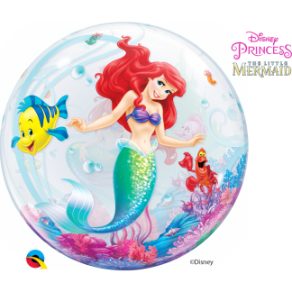 Heliumballon Mermaid Princess Ballon Bubble