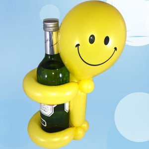 Flaschen-Smilie-Halter-Bier-Ballonfigur-Ballons-Saarland-Rheinland-Pfalz-Homburg-Neunkirchen-Saarbrücken-Birkenfeld-Kusel-Kaiserslautern