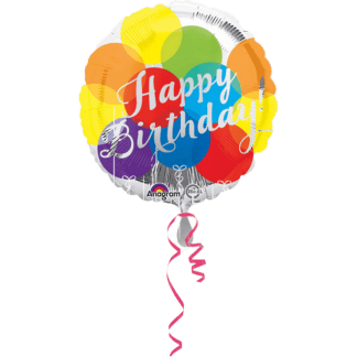 Happy Birthday Ballon buntes Konfetti