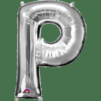 Buchstabe P Silber Ballon Heliumballon