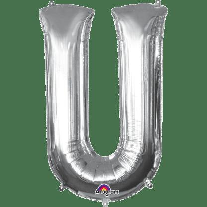 Buchstabe U Silber Ballon Heliumballon