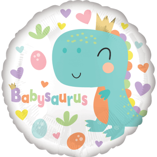 Folienballon Geburt mit Babysaurus