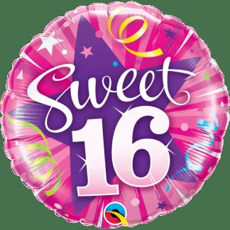 Happy Birthday Folienballon Sweet 16 Pink