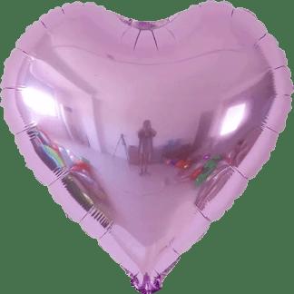 Folienballon Herz Lavendel Metallic Hochzeit