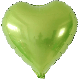 Folienballon Metallic Hellgrün Herz