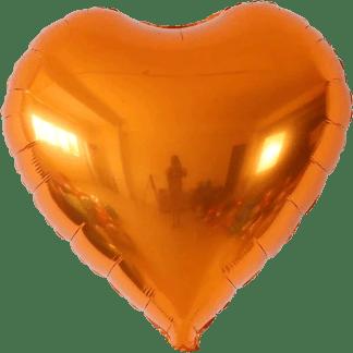 Folienballon Herz Orange Metallic Hochzeit