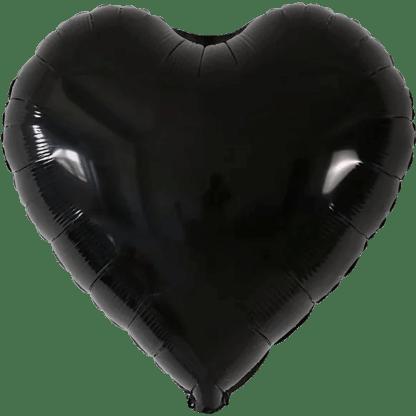 Folienballon Schwarz Herz
