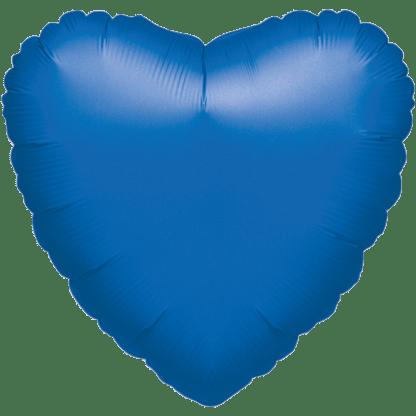 Folienballon Herz Metallic Blau
