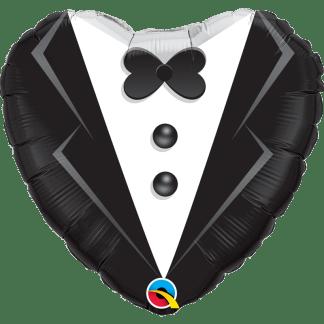Folienballon Bräutigam schwarz weiss Heiraten Hochzeit