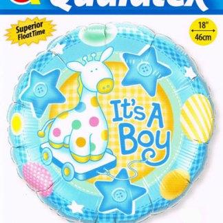 Folienballon Geburt Junge Giraffe Heliumballon Ballon Qualatex