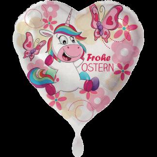 Folienballon Einhorn fröhliche Ostern Heliumballon Ballon
