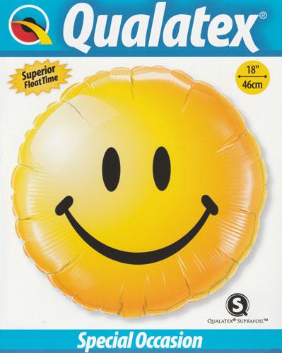 Folienballon als Smilie in Gelb