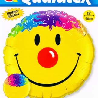 Folienballon Smilie bunte Haare Heliumballon Qualatex