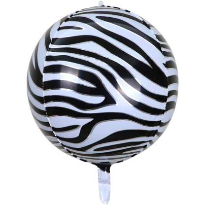 Rundballon Zebramuster