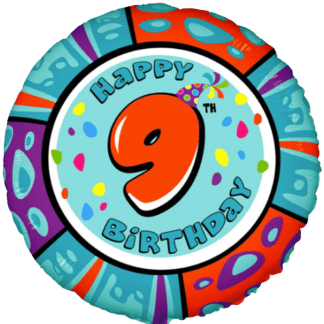 Folienballon Geburtstag Zahl 9 Blau