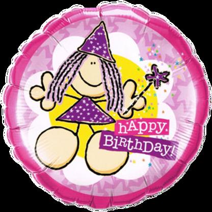 Happy Birthday alles Gute zum Geburtstag Fee mit Feenstab