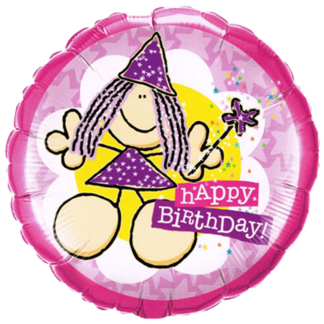 Folienballon Happy Birthday Fee Heliumballon Ballon Qualatex
