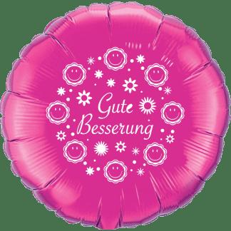 Gute Besserung Pink Folienballon