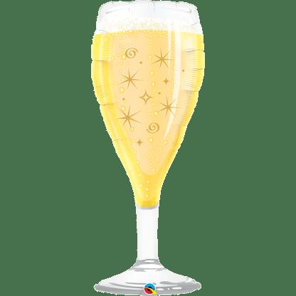 Folienballon Sektglas Hochzeit Champagner Glas Heliumballon Ballon