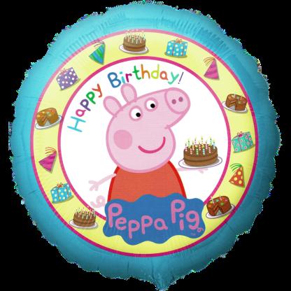 Folienballon Peppa Pig Happy Birthday Geburtstag